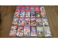 Job lot 181 Disney + kids vhs videos and vhs video recorder and leads