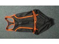 ladies bikini orange and black size 10 george