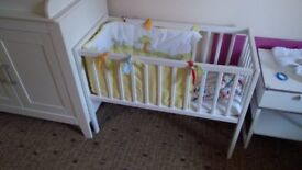 Crib with mattress and bumpers