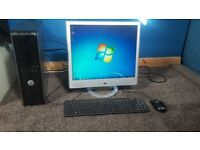 Dell 380 series pc monitor keyboard mouse wireless fast and silent pc