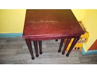 fold away table with nest of 3 tables