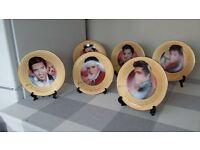 Six Elvis Plates