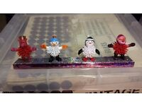 Large box of novelty Christmas themed characters