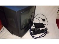Sony TV (with VHS player), freeview box & leads