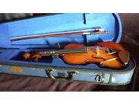 Child's violin - 1/4 quarter size - Stentor - with Vamoosh book 1 music