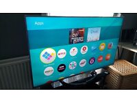 """PANASONIC 55"""" ULTRA HD 4K HDR Smart LED TV, 1000Hz, built in Wifi,Freeview Play, good condition"""