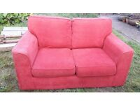 Free 2 seater material sofa need collecting asap