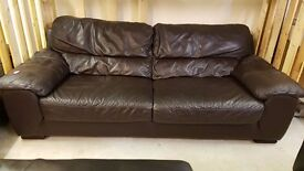 Leather sofa Brown for sale