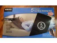 5 motor full body massage mat