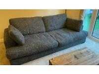 DFS 4 Seater Kinsey Sofa Charcoal Grey