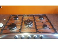 Belling stainless steel 5 burner gas hob
