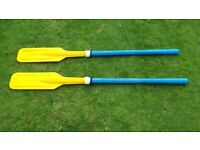 Pair of plastic dingy oars 4ft long