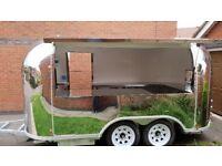 Mobile Airstream Catering Trailer Burger Van Pizza Trailer 4000x2100x2600