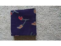 Purple floral fabric Coaster set of 6 New Tableware