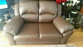2 seater sofa chocolate