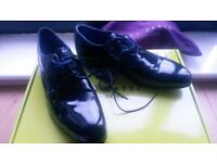 Ted Baker size 6. A new beautiful charming shoes for wedding: Black Shiny with same texture lez belt