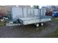 Ifor Williams tilt bed car transporter trailer