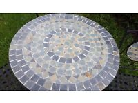Mosaic garden table and four chairs furniture