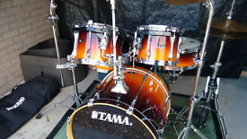 TAMA SUPERSTAR 5-piece Drum kit with Cymbals and Hard cases.