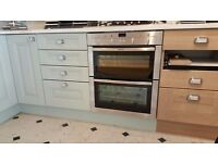 NEFF 60cm wide s/steel double BUILT UNDER Oven. Model U17M42 Brand new unused ex kitchen display.