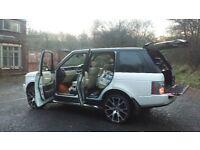 white range rover 3.0 diesel. 6000 ono.