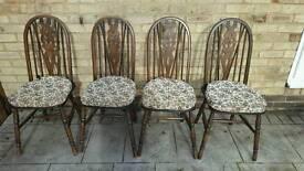 Fleur-de-lis antique/shaker/quaker chair x 4