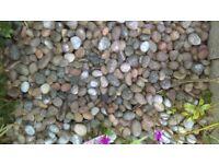 25kg bags of Scottish pebbles, £10 per bag