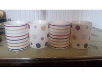 Set of 4 Patterned Mugs