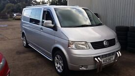 VOLKSWAGEN TRANSPORTER T5 LWB 2.5TDI MINT CONDITION