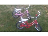 Two Childs Schwinn Bikes