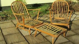 Ercol Iconic 203 Model Windsor Pair of Lounge chairs