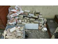 Concrete blocks - bricks from old fire place