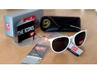 FREE DELIVERY TODAY! RAYBANS WHITE GLOSS LASIES SUNGLASSES WOMENS WHOLESALE JOBLOT
