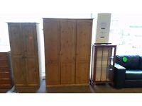 GREAT CONDITION! 3 door chelsea large pine wardrobe