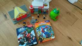 Postman Pat, spiderman, Fireman Sam bundle!