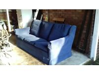 Sofa blue cheap 3 seater