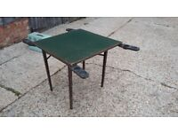 Vintage Fold Out Games Table With Fold Out Brass