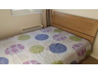 Double bed with memory foam and reflex mattress. Excellent condition.