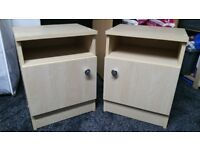 A pair of matching Bed Side Cabinets