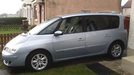2007 renault espace 2.0ltr dti,7seater part leather,lovely interior and mot till december 2017,£2000