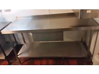 COMMERCIAL STAINLESS STEEL PREPARATION SERV TABLE WITH DRAW