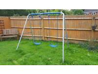 Swing set with multi stage infant seat