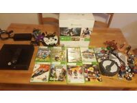 Xbox 360 Slim 250GB Console with Power Pack & 2 Controllers..in Black