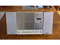 Panasonic Compact FM/AM radio CD Player with remote / detachable speakers.