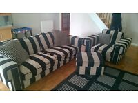 DFS Sofa,Chair n Footstool with storage good condition all covers washable,selling due to move