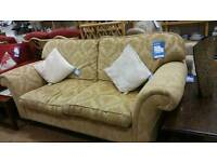 Large gold 2 seater traditional style sofa
