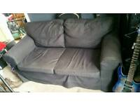 2 x 2 seater black denim ikea sofas