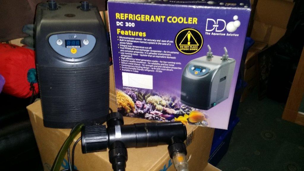 Refridgerated water cooler for fish tank complete with for Fish tank water cooler