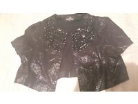 Sparkly black shrug