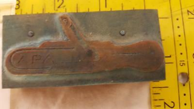 Antique Letterpress Apa Copper On Wood Cut Printing Block Z86